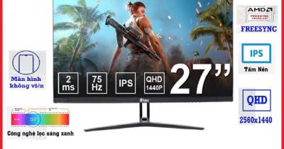 Màn Hình Máy Tính Gaming Atas 27 Inch - Độ Phân Giải 2K - Tấm nền IPS - Bảo Hành 2 Năm